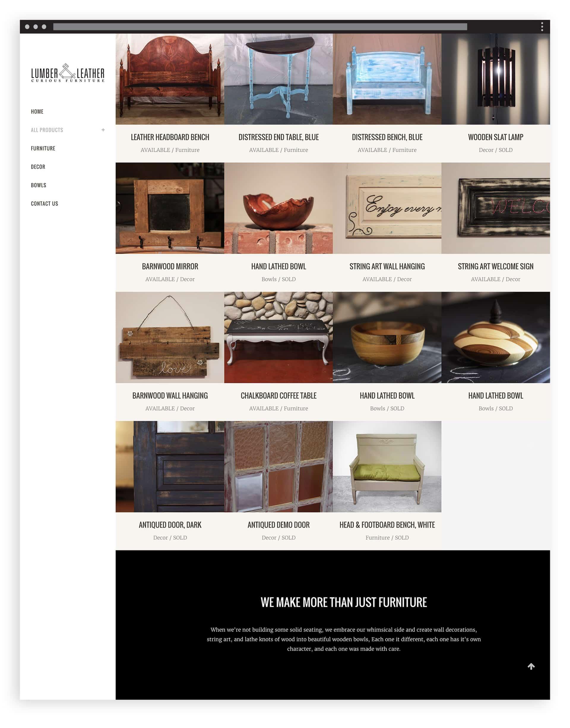 Lumbar & Leather - Website