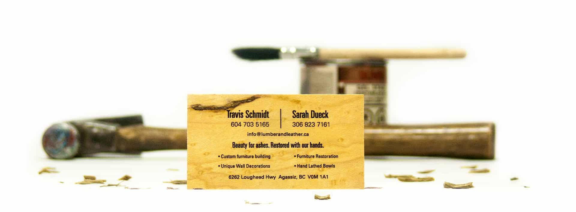 Lumbar & Leather - Business Card