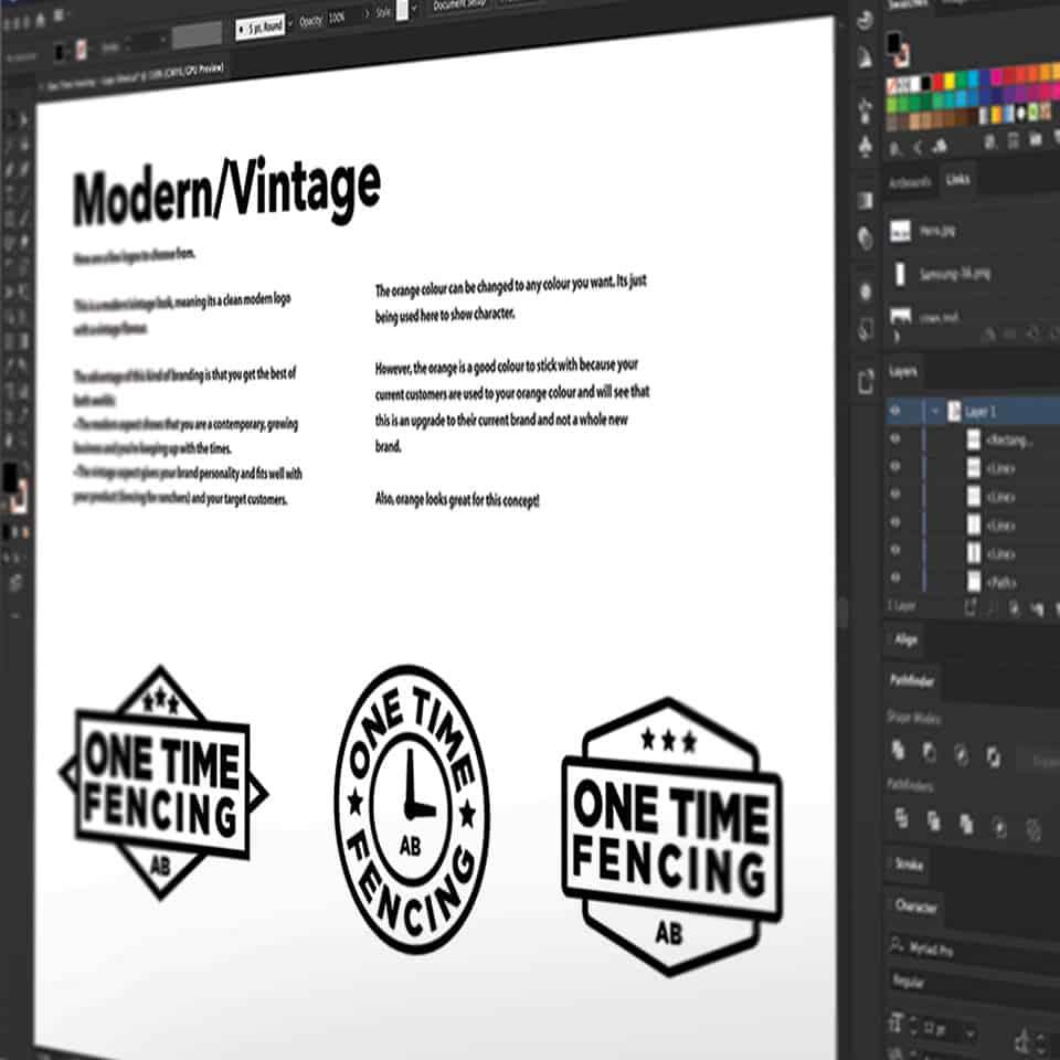 2-One-Time-Fecing---Logo-Design-3