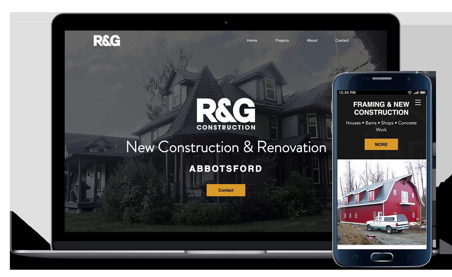 R&G-Construction-Website-Laptop