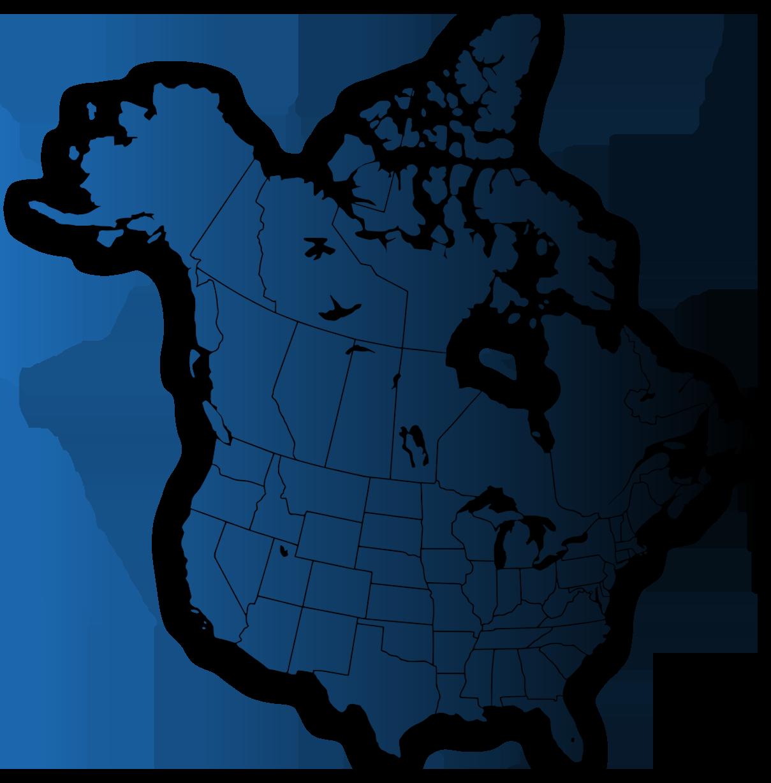 North-America-Map